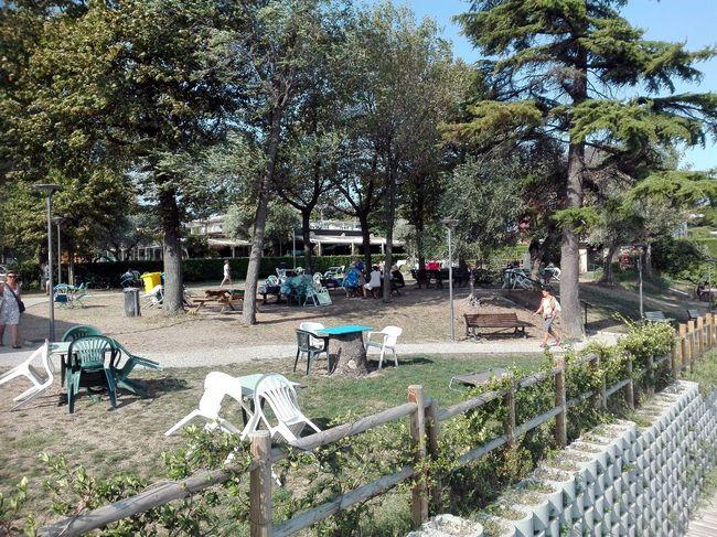 Area pic-nic a Desenzano, sul Lago di Garda