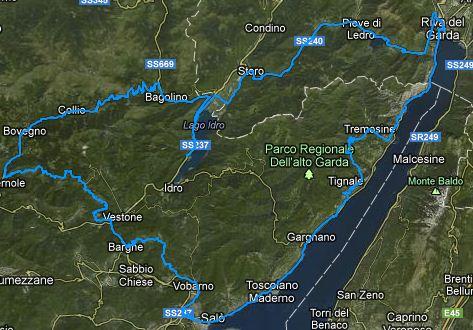 Itinerario in moto Tre Laghi
