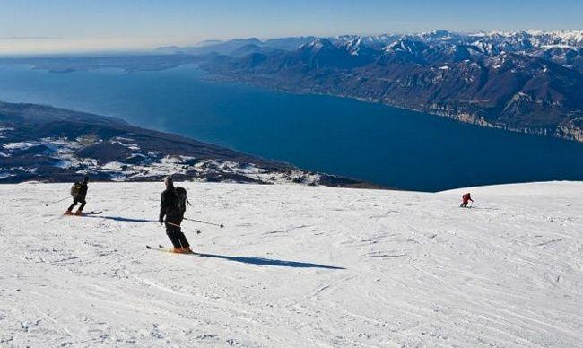 piste da sci sul Monte Baldo, Lago di Garda