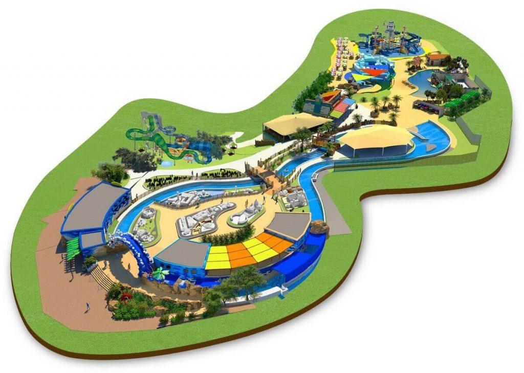 Mappa del parco acquatico a tema Lego di Gardaland